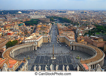 Saint Peters Square Rome Italy