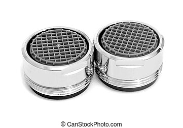 faucet aerators - some faucet aerators on a white background
