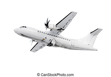 White airplane - A picture of a white plane takinf off...