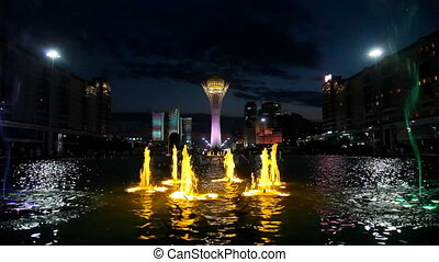 Light colour fountain.