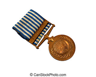 UN Peacekeeping Medal Korea - UN peacekeeping medal for...