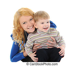 Happy mom with a child