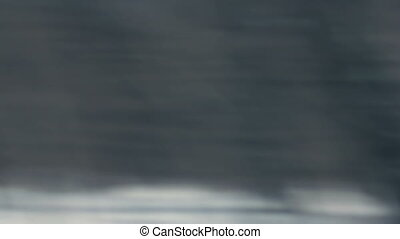 View from car window. Winter-spring season abstract...