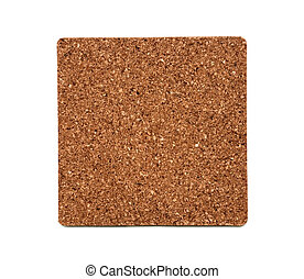 Cork texture on a white background