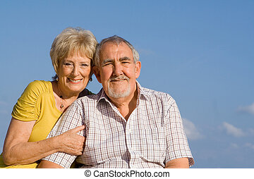 elderly couple on vactation