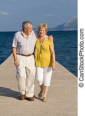 fit healthy senior couple