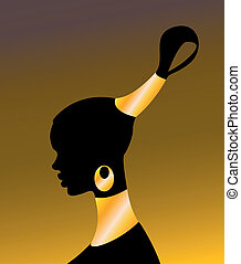 The African girl on a  background