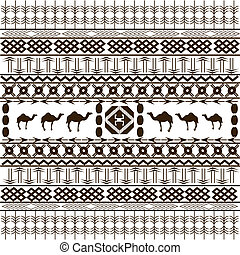 African background, texture with animals and ethnic motifs