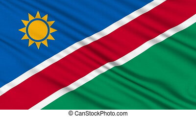 Namibia Flag, with real structure of a fabric