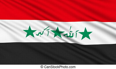 Iraq Flag, with real structure of a fabric