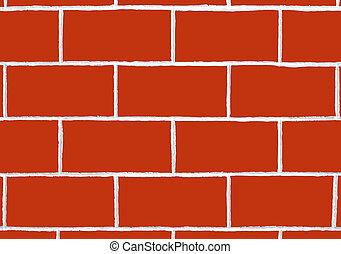 Red Brick Wall - Red brick wall texture
