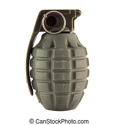 Hand Grenade - Hand grenade isolated in white