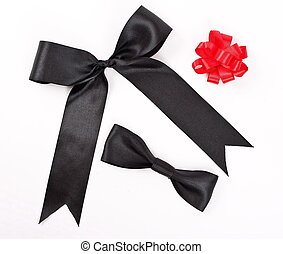 Red and black bows