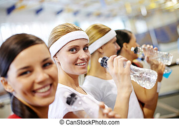 Girls in gym
