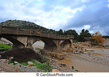 Concrete Bridge - The Old Concrete Bridge, Destroyed by...