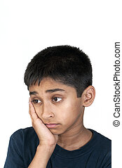 sad - An handsome Indian kid looking very sad