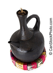 Jebena - Traditional Ethiopian coffee pot made out of clay