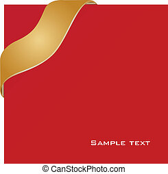 New ribbon design - red with gold