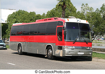 Red bus - A stock photo of the red bus