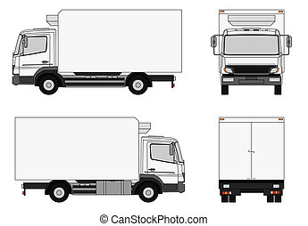 Delivery truck - An illustration of a delivery truck
