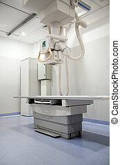 X-Ray Table - An x-ray table in a hospital in a clean...