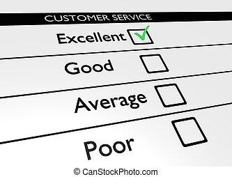 customer service - Illustration of a customer service poll