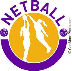 netball player shooting ball