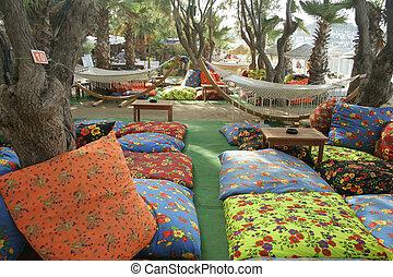 cushions near beach