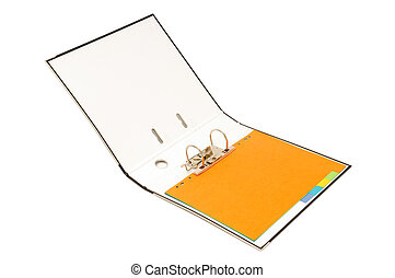 loose-leaf binder isolated on a white background...