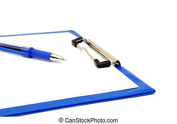 clipboard and ballpoint