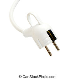 wall plug isolated on a white background