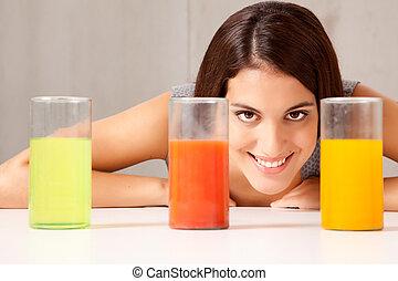 liquido, coppa, esperimento