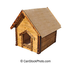 Wooden house for childrens games