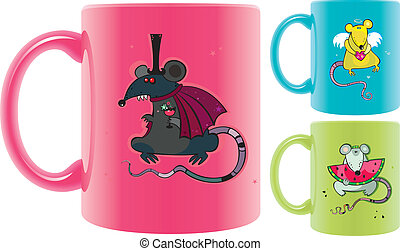 cups with rats