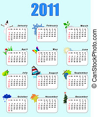 Calendar_vertical 2011 - seasons Every month a calendar has...