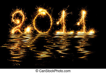 2011 made of sparks in water