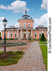 The Chinese palace in a court yard ancient castle Lvov,...