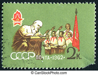 postage stamp - RUSSIA - CIRCA 1962: stamp printed by...