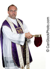 Catholic priest collects
