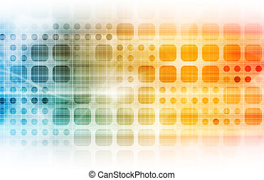 Business Technology with a Corporate Abstract Art