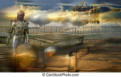 The guardian of the celestial palace - The knight of aerial...