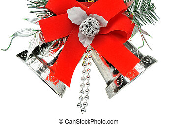 Christmas handbells. It is isolated on a white background