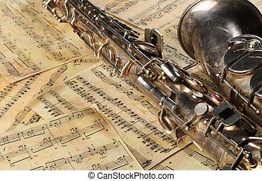 antigas, saxofone, notas
