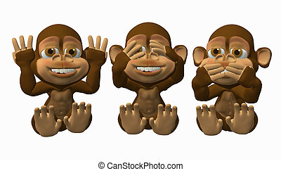 See No Evil Speak No Evil, Hear No Evil Monkeys