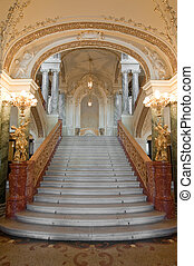 luxury stairway - stairway. An interior of opera theatre....