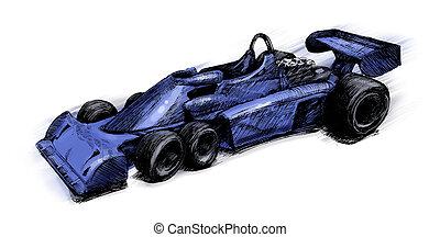 Former formula one bolide - illustration of Former formula...