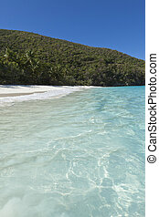 turquoise water of trunk bay
