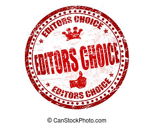 Editors choice stamp - Abstract grunge rubber stamp with the...