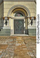 Door in church