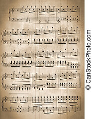 old musical notes - Musical notes. The grant for play on...